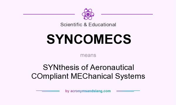 What does SYNCOMECS mean? It stands for SYNthesis of Aeronautical COmpliant MEChanical Systems