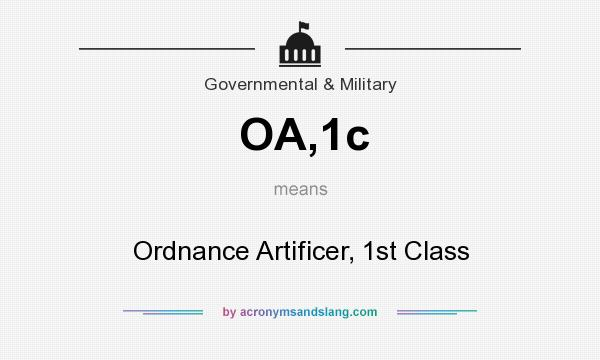 What does OA,1c mean? It stands for Ordnance Artificer, 1st Class
