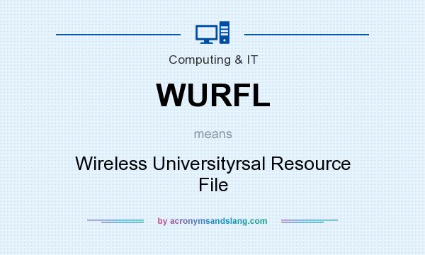 What does WURFL mean? It stands for Wireless Universityrsal Resource File