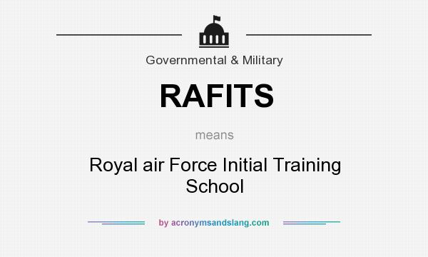 What does RAFITS mean? It stands for Royal air Force Initial Training School