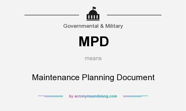 MPD - Maintenance Planning Document in Governmental