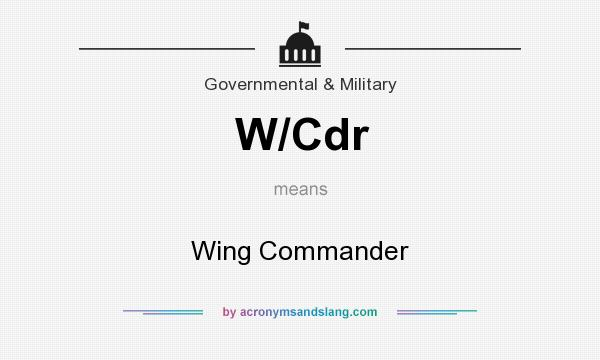 What does W/Cdr mean? It stands for Wing Commander