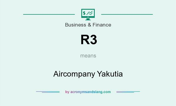 What does R3 mean? It stands for Aircompany Yakutia
