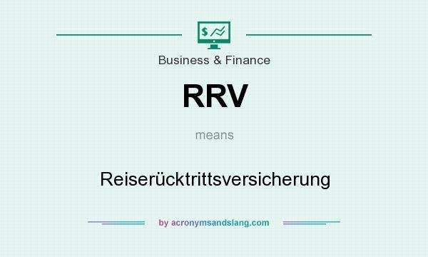 What does RRV mean? It stands for Reiserücktrittsversicherung