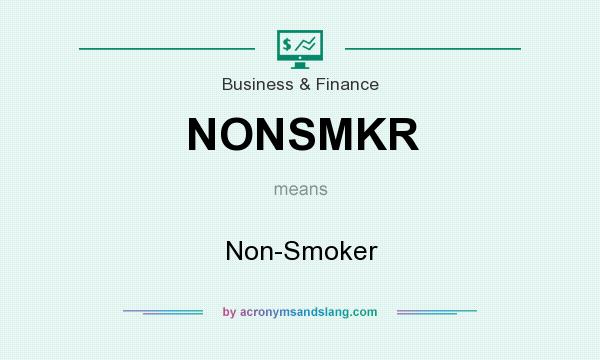 What does NONSMKR mean? It stands for Non-Smoker