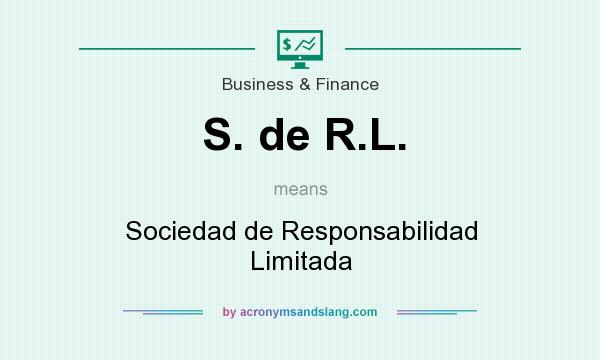 What does S. de R.L. mean? It stands for Sociedad de Responsabilidad Limitada