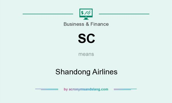 What does SC mean? It stands for Shandong Airlines