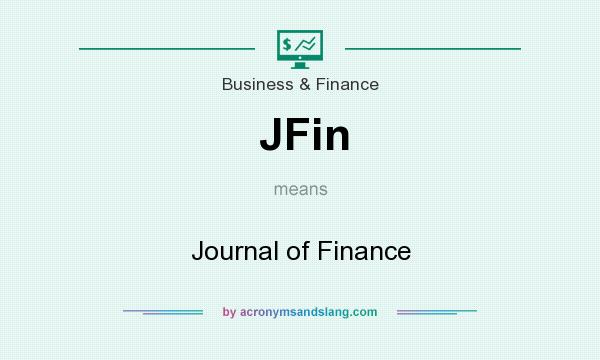 What does JFin mean? It stands for Journal of Finance