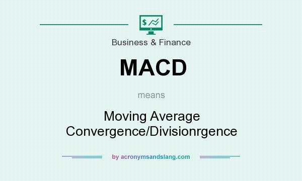 What does MACD mean? It stands for Moving Average Convergence/Divisionrgence