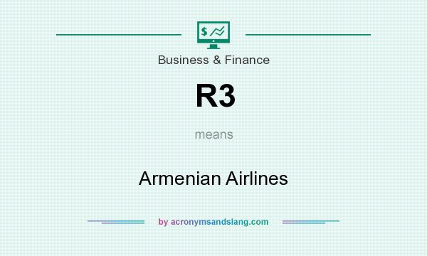 What does R3 mean? It stands for Armenian Airlines
