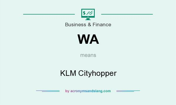 What does WA mean? It stands for KLM Cityhopper