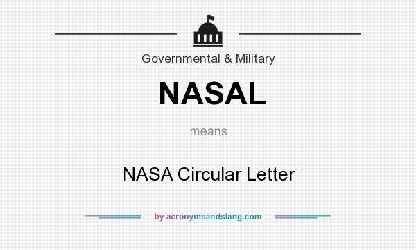 What does NASAL mean? It stands for NASA Circular Letter