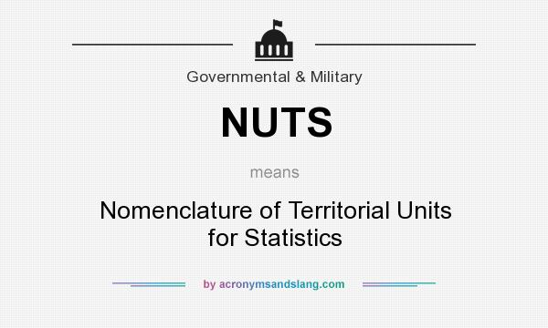 What does NUTS mean? It stands for Nomenclature of Territorial Units for Statistics