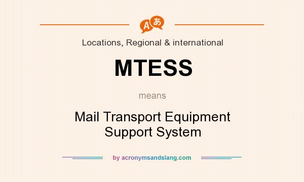 What does MTESS mean? It stands for Mail Transport Equipment Support System