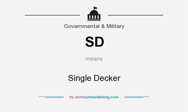 What does SD mean? It stands for Single Decker