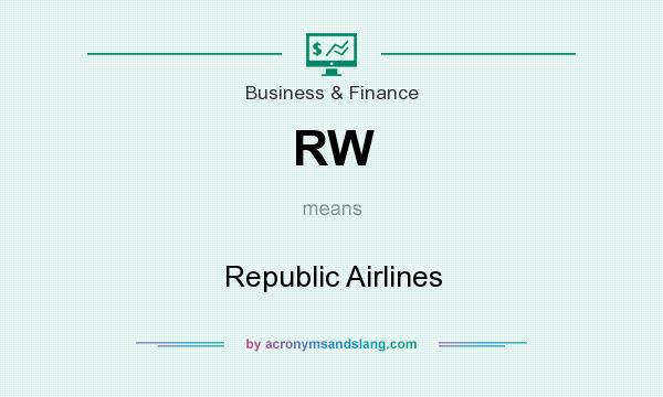 What does RW mean? It stands for Republic Airlines