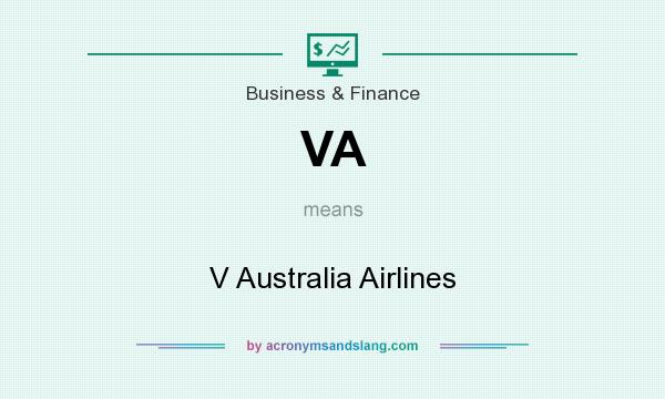 What does VA mean? It stands for V Australia Airlines