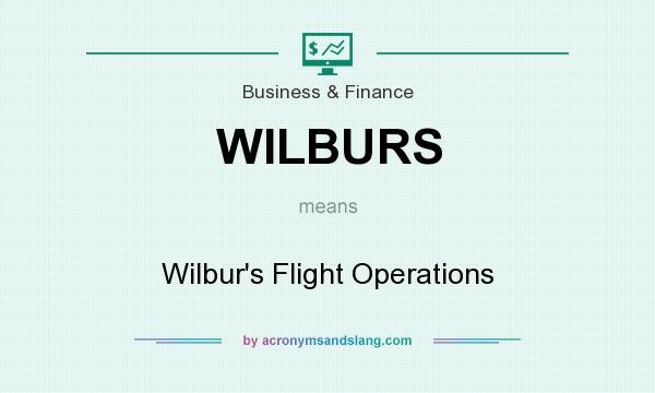 What does WILBURS mean? It stands for Wilbur`s Flight Operations