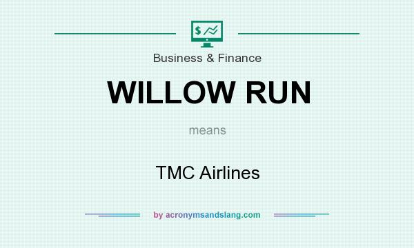 What does WILLOW RUN mean? It stands for TMC Airlines