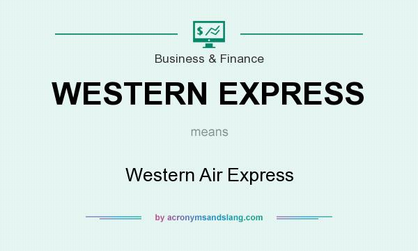 What does WESTERN EXPRESS mean? It stands for Western Air Express