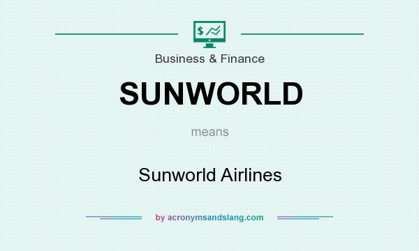 What does SUNWORLD mean? It stands for Sunworld Airlines