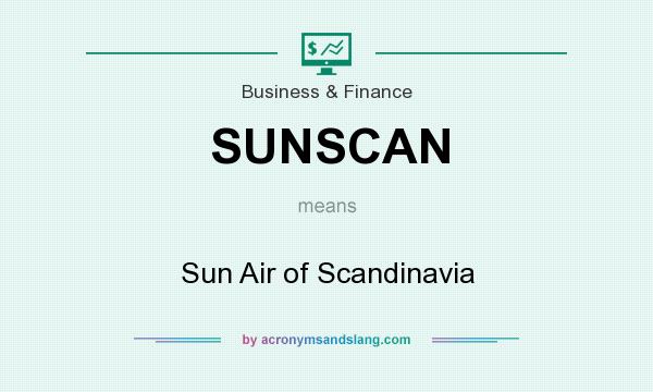 What does SUNSCAN mean? It stands for Sun Air of Scandinavia