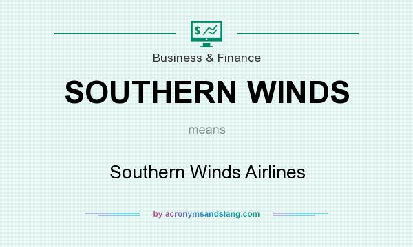 What does SOUTHERN WINDS mean? It stands for Southern Winds Airlines