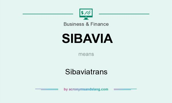 What does SIBAVIA mean? It stands for Sibaviatrans