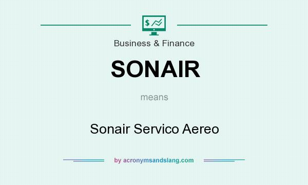 What does SONAIR mean? It stands for Sonair Servico Aereo