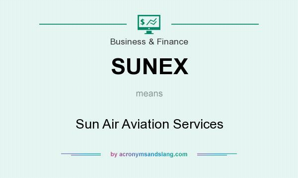 What does SUNEX mean? It stands for Sun Air Aviation Services