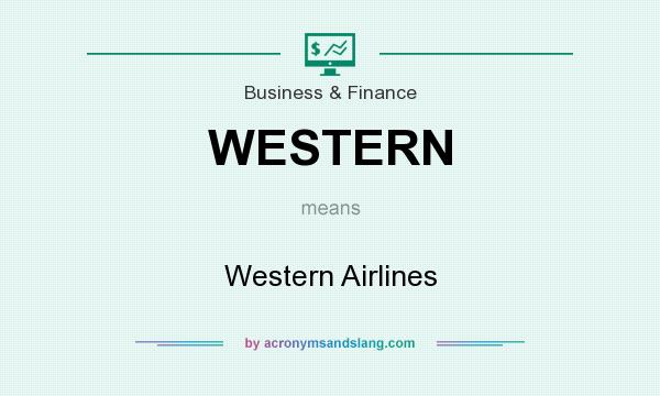 What does WESTERN mean? It stands for Western Airlines