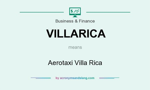 What does VILLARICA mean? It stands for Aerotaxi Villa Rica