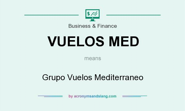 What does VUELOS MED mean? It stands for Grupo Vuelos Mediterraneo
