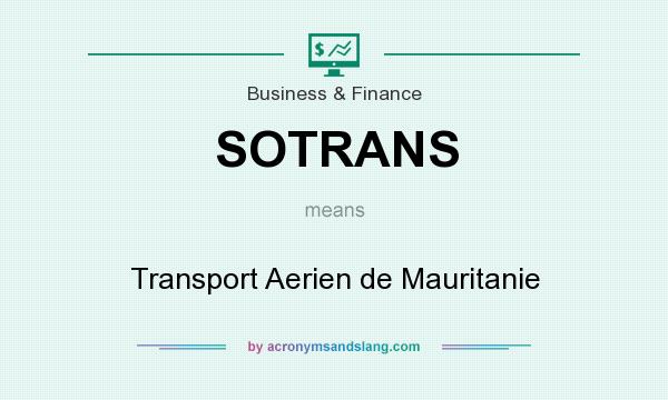 What does SOTRANS mean? It stands for Transport Aerien de Mauritanie