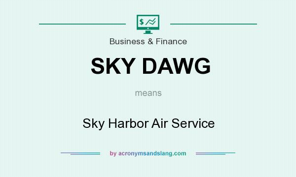 What does SKY DAWG mean? It stands for Sky Harbor Air Service