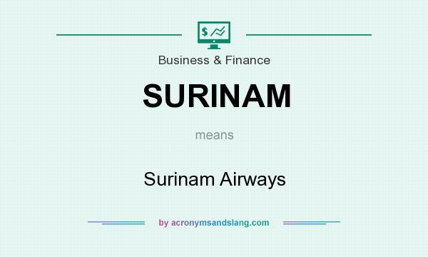 What does SURINAM mean? It stands for Surinam Airways