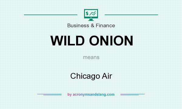 What does WILD ONION mean? It stands for Chicago Air