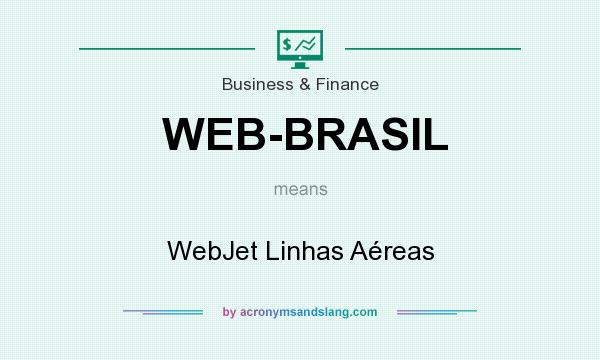 What does WEB-BRASIL mean? It stands for WebJet Linhas Aéreas