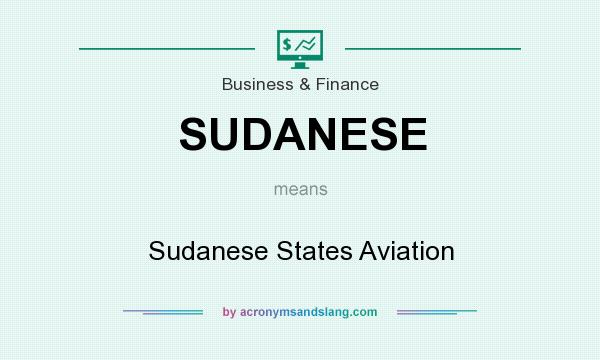 What does SUDANESE mean? It stands for Sudanese States Aviation