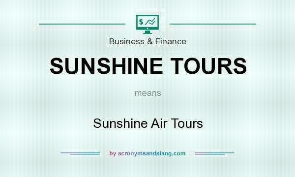 What does SUNSHINE TOURS mean? It stands for Sunshine Air Tours
