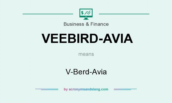 What does VEEBIRD-AVIA mean? It stands for V-Berd-Avia