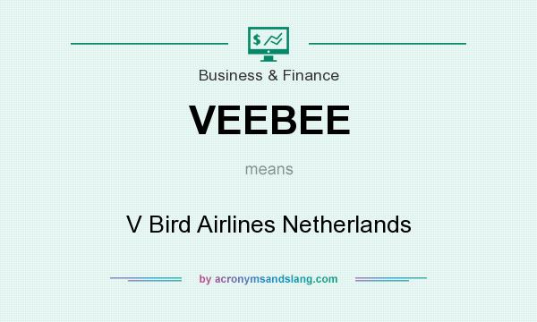 What does VEEBEE mean? It stands for V Bird Airlines Netherlands