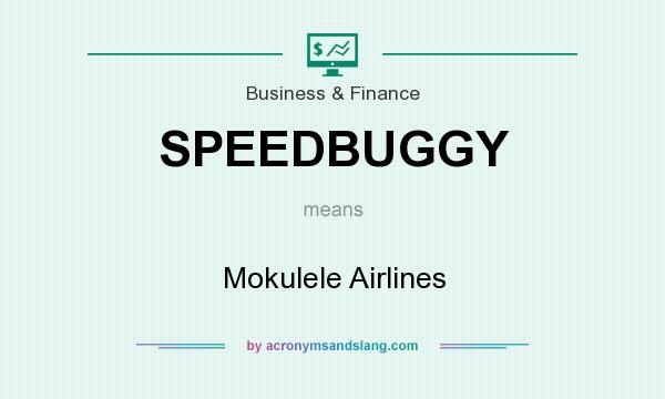 What does SPEEDBUGGY mean? It stands for Mokulele Airlines