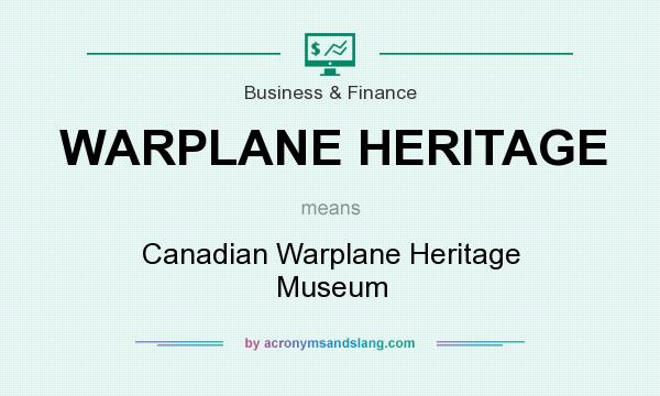 What does WARPLANE HERITAGE mean? It stands for Canadian Warplane Heritage Museum