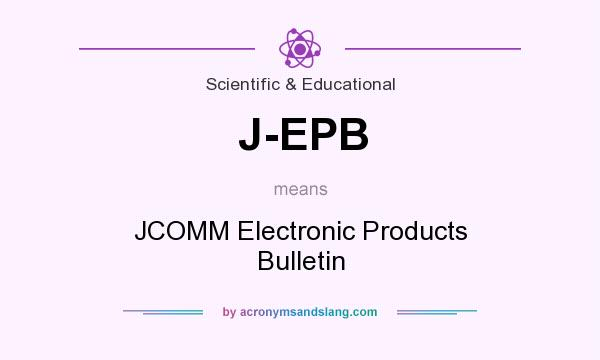 What does J-EPB mean? It stands for JCOMM Electronic Products Bulletin