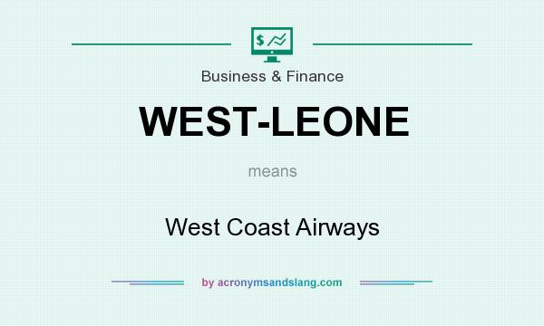 What does WEST-LEONE mean? It stands for West Coast Airways