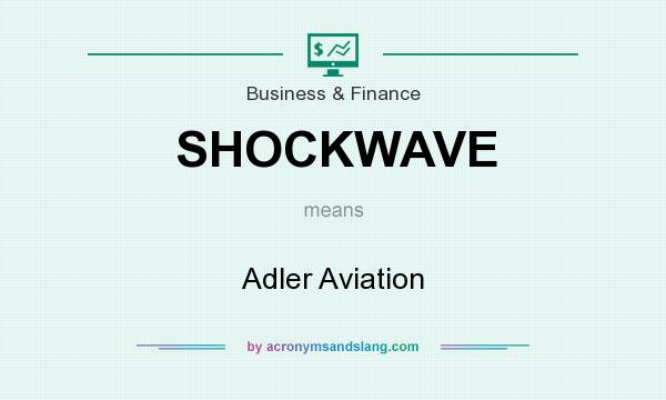 What does SHOCKWAVE mean? It stands for Adler Aviation