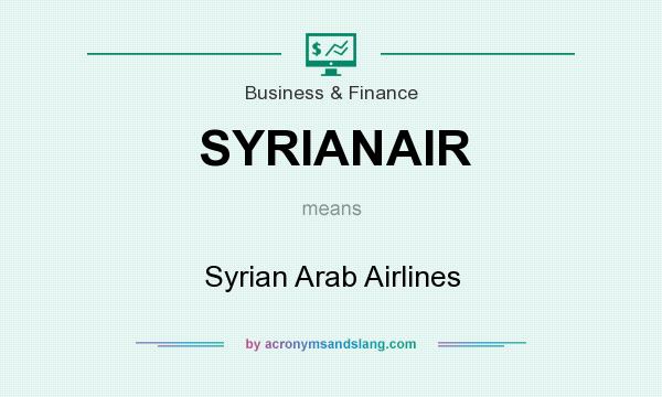 What does SYRIANAIR mean? It stands for Syrian Arab Airlines