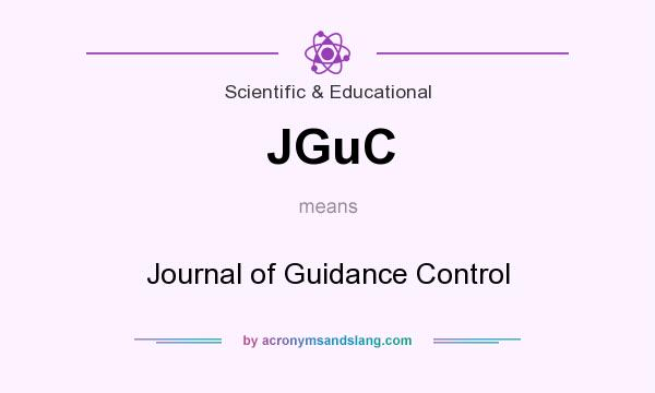 What does JGuC mean? It stands for Journal of Guidance Control