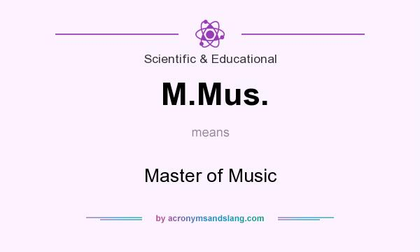 What does M.Mus. mean? It stands for Master of Music